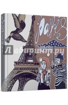 Скетчбук ПарижАльбомы/папки для профессионального рисования<br>Скетчбук.<br>Количество страниц: 96<br>Формат: А6- (168х165 мм).<br>Внутренний блок: тонированный офсет<br>Прошитый блок.<br>Переплет: 7Б<br>