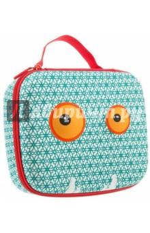 Чемоданчик Beast Box, цвет голубой с узоромСумки школьные<br>Прочный чемоданчик в мягкой обшивке хорошо сохранит ваши различные принадлежности. Используются  высококачественные материалы, в том числе и крепкие молнии, чтобы был практичный чемоданчик, который сделан на совесть. Он также может хранить ваши ножницы, точилки, карандаши, мобильный телефон, личные вещи и многое другое. Забавные узоры - смелые геометрические, стильные модели, расцветка зебры или глазки - выберите Ваш любимый!<br>Размер: 23х19х9 см.<br>Материал: полиэстер.<br>Сделано в Китае.<br>