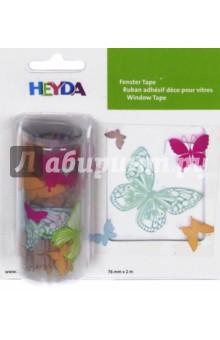 Наклейка многоразовая Бабочки (76 мм х 2м)Наклейки детские<br>Декоративная наклейка Heyda. Благодаря красочному принту и крепкой клеевой основе поможет украсить вашу открытку, поделку или добавит новых красок в декор. Подходит для многоразового использования. Для лучшего эффекта - используйте наклейку на гладких поверхностях, разгладьте после поклейки. <br>Рисунок: Бабочки<br>Размер наклейки: 7,6 x 200 см.<br>