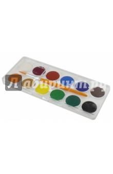 Краски акварельные Colour (12 цветов, сухие) (229-0921-000)Краски акварельные 12 цветов (9—14)<br>Краски акварельные, сухие.<br>В наборе 12 цветов, кисть №6.<br>Диаметр: 24 мм<br>Упаковка: пластиковая коробка с европодвесом.<br>Сделано в Турции.<br>