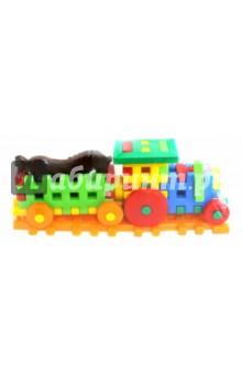 Конструктор WUDI. Трактор с прицепом (PL0447)Конструкторы из пластмассы и мягкого пластика<br>Представляем вашему вниманию конструктор WUDI. Трактор с прицепом.<br>Для детей старше 3-х лет. <br>Сделано в Польше.<br>