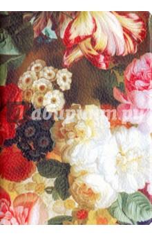 Ежедневник недатированный Floria. 96 листов (AZ401/floria)Ежедневники недатированные и полудатированные А6<br>Обложка - интегральная, люксовая искусственная кожа с цветочным принтом. <br>Блок - недатированный, 192 стр., прямые уголки, 1 широкое ляссе, информационный блок, бумага: 100 % белизны, 70 г/м2, печать 2+2.<br>Принт обложки в ассортименте, расположение цветов может варьироваться.<br>