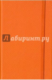 Записная книжка Lifestyle. 96 листов (AZ110/orange)Записные книжки средние (формат А6)<br>Обложка - твердая, приятный на ощупь европейский переплетный материал, цвет - оранжевый. <br>Блок - клетка, 192 стр., прямые уголки, 1 широкое ляссе, информационный блок, бумага: 100 % белизны, 70 г/м2, печать 1+1.<br>