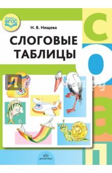 Слоговые таблицы. ФГОСОбучение чтению. Буквари<br>В дидактическом пособии представлены слоговые таблицы, необходимые для автоматизации навыка чтения слогов у детей дошкольного возраста. Пустые клетки в таблицах обозначают отсутствие слов с данным слогом в русском языке. Гласные буквы в таблицах красного цвета, согласные буквы, обозначающие мягкий и твердый звуки, - синего цвета, согласные буквы, обозначающие только мягкий звук, - зеленого цвета.<br>Пособие адресовано педагогам ДОО и учреждений дополнительного образования, родителям дошкольников.<br>