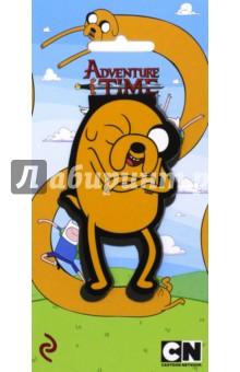 Закладка фигурная ДжейкЗакладки для книг<br>Официальные продукты по вселенной популярного мультсериала! <br>Впервые на рынке большие магнитные закладки с изображением персонажей Adventure time! Яркие дизайны и необычный формат! Фигурные закладки из плотного ламинированного картона позволяют выделять странички и выделяться из толпы!<br>