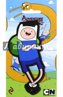 Закладка фигурная ФиннЗакладки для книг<br>Официальные продукты по вселенной популярного мультсериала!<br>Впервые на рынке большие магнитные закладки с изображением персонажей Adventure time! Яркие дизайны и необычный формат! Фигурные закладки из плотного ламинированного картона позволяют выделять странички и выделяться из толпы!<br>