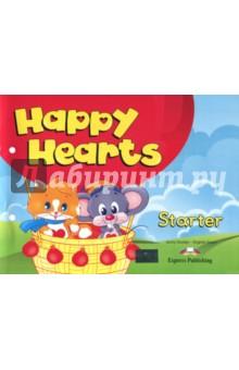 Happy Hearts Starter. Pupils Book. УчебникАнглийский для детей<br>Happy Hearts - трехуровневый курс английского языка для детей 3-6 лет. УМК способствует развитию коммуникативных навыков: аудирования, чтения и говорения посредством песен и игр. Умный кот Кенни сделает процесс обучения интересным и увлекательным. Красочные плакаты и постеры помогут заинтересовать ребенка, содействуя практическому подходу в обучении английскому языку, а яркие наклейки будут содействовать быстрому запоминанию новых слов и развитию мелкой моторики.<br>