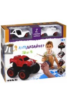 Игровой набор 3 в 1 Я Автодизайнер (M6540-3)Машины-игрушки<br>Игровой набор 3 в 1.<br>Характеристики: <br>- Мягкие колеса<br>- Съемный корпус<br>- Мощный привод для трюков<br>- Подъем на дыбы<br>- Преодолевает препятствия<br>- Кручение на задних колесах.<br>В состав набора входит полноприводная машинка с 2-мя корпусами под раскраску, набор красок (5 цветов) на водной основе, 2 кисточки и стаканчик.<br>Состав: полимерный материал с элементами из металла, акриловые краски на водной основе.<br>Не предназначено для детей до 3-х лет. Содержит мелкие детали.<br>Страна изготовления: Китай.<br>