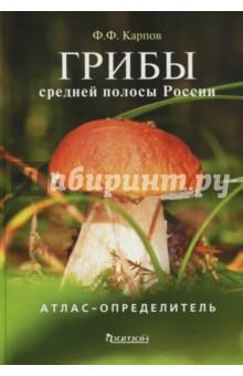 Грибы средней полосы России. Атлас-определительБотаника<br>Главная задача этой книги - научить читателя распознавать грибы, помочь разобраться, какие из них съедобные, какие ядовитые или просто неприятные на вкус или запах.<br>Познакомить с малоизвестными съедобными грибами, которые порой совсем не хуже боровиков, подосиновиков и маслят, взялся кандидат биологических наук, доцент медико-биологического факультета Российского государственного медицинского университета Ф.Ф. Карпов. Грибы для него не только профессия, но и давнее увлечение. Так что будьте уверены, что каждую, на ваш взгляд, чистокровную поганку пробовал не только он сам, но и вся его семья.<br>В книге приводятся описания внешнего вида грибов, даны советы, где и в какие месяцы их лучше искать. И, разумеется, присутствует информация о грибах-двойниках, то есть сведения о том, с каким смертельно ядовитым или просто горьким грибом можно перепутать шампиньон или подберезовик.<br>Каждое описание гриба сопровождается его большой качественной фотографией, а если надо - то и двумя.<br>