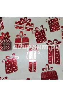 Бумага упаковочная крафт Красные подарки (76693)Подарочная упаковка<br>Бумага крафт.<br>Для сувенирной продукции в листах.<br>Размер: 100х70 см<br>Немелованная, с полноцветным декоративным рисунком, плотность 60 г/м2, свернута в рулон.<br>Сделано в Китае.<br>