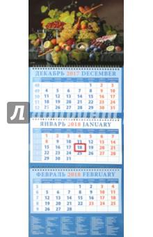 Календарь 2018 Натюрморт. Северин Розен (14838)Квартальные календари<br>Календарь на 2018 год, настенный, квартальный с пиколло и курсором для выделения текущей даты.<br>Бумага офсетная<br>Обложка глянцевая.<br>Крепление: спираль.<br>Формат: 320х780 мм (а развернутом виде).<br>Сделано в России.<br>