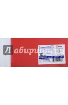 Конверты Kurt Strip (10 штук, ассорти 5 цветов, C65) (225А.10A)Конверты<br>Конверт.<br>Формат: C65<br>Конверт С65 - имеет размер 114х229 мм. В конверт С65 входит лист А4, сложенный втрое, или лист А5 сложенный пополам.<br>Такие конверты часто используют при рассылке пригласительных билетов, поздравительных карточек, открыток. <br>Плотность бумаги: 120 г/м2<br>С клеевой полоской. <br>В наборе 10 конвертов.<br>Цвета: зеленый, красный, желтый, оранжевый, голубой.<br>Сделано в России.<br>