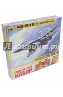 Сборная модель Самолет МиГ-29 (9-13), 1/72 (7278П)Пластиковые модели: Авиатехника (1:72)<br>МиГ-29С, или 9-13С по фирменному обозначению КБ им. Микояна, был принят на вооружение ВВС России в 1994 году. Эта модернизированная версия истребителя МиГ-29 оснащена новой системой управления стрельбой СОУ-29М4, сопряжённой с бортовым компьютером Ц-101М, что позволило более эффективно вести огонь по воздушным и наземным целям. Радиолокационный прицел Н-019М Топаз способен наводить ракеты с полуактивной ГСН одновременно по двум целям. Истребитель оснащён встроенной аппаратурой радиоэлектронного противодействия. Основной задачей МиГ-29C является защита от воздушного противника небольших территорий, важных объектов и войсковых групп.<br>Масштаб: 1/72<br>Количество деталей: 190<br>Размер модели: 24 см.<br>Набор собирается при помощи специального клея, выпускаемого предприятием Звезда. <br>Клей и краски входят в набор.<br>Моделистам младше 10 лет рекомендуется помощь взрослых<br>Не рекомендуется детям до 3 лет. Осторожно, мелкие детали!<br>Сделано в России.<br>