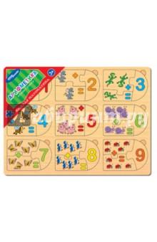 Игра из дерева Весёлая математика. Арифметика (89205 )Развивающие рамки<br>Игра настольная развивающая из дерева.<br>Положительно влияет на развитие мелкой моторики и сенсорное восприятие ребенка.<br>Комплектность: рамка-основа, 27 деталей.<br>Содержит мелкие предметы.<br>Сделано в России.<br>