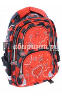 Рюкзак для младших классов Сердце (38х30х14 см) (226392)Ранцы и рюкзаки для начальной школы<br>Рюкзак для начальной школы.<br>Возрастная группа: 7-10 лет<br>Рюкзак имеет:<br>- 1 большое отделение на молнии.<br>- 2 накладных кармана спереди на молнии. <br>- 2 боковых сетчатых кармана.<br>- Ручки для переноски рюкзака в руках.<br>Длина лямок регулируется.<br>EVA спинка.<br>Светоотражающие вставки.<br>Материал: полиэстер 100%<br>Размер: 38х30х14 см.<br>Производство: Китай.<br>