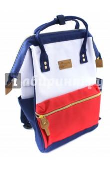 Рюкзак молодежный Трехцветный (45460)Рюкзаки школьные<br>Рюкзак молодежный имеет:<br>- 1 большое отделение на молнии.<br>- 1 накладной карман спереди на молнии. <br>- 2 накладных кармана по бокам.<br>- Ручки для переноски рюкзака в руках.<br>Длина лямок регулируется.<br>Материал: полиэстер<br>Размер: 34х23х15 см.<br>Производство: Китай.<br>