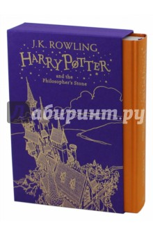 Harry Potter and the Philosophers Stone (B1) Gif.EdЛитература на иностранном языке для детей<br>Celebrate 20 years of Harry Potter magic!  <br>This gift edition hardback, presented in a beautiful foiled cloth slipcase decorated with brand new line art by Jonny Duddle, is the perfect introduction to Harry Potter.<br>Harry Potter has never even heard of Hogwarts when the letters start dropping on the doormat at number four, Privet Drive. Addressed in green ink on yellowish parchment with a purple seal, they are swiftly confiscated by his grisly aunt and uncle. Then, on Harry s eleventh birthday, a great beetle-eyed giant of a man called Rubeus Hagrid bursts in with some astonishing news: Harry Potter is a wizard, and he has a place at Hogwarts School of Witchcraft and Wizardry. An incredible adventure is about to begin!<br>Reviews<br>I ve yet to meet a ten-year-old who hasn t been entranced by its witty, complex plot and the character of the eponymous Harry - Independent<br> Spellbinding, enchanting, bewitching stuff - Mirror<br> Teachers say a chapter can silence the most rowdy of classes - Guardian<br> One of the greatest literary adventures of modern times - Sunday Telegraph<br> The Harry Potter stories will join that small group of children s books which are read and reread into adulthood - TLS<br>