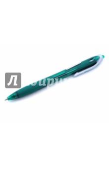 Ручка шариковая 0.5 REX (GRIP BPRG-10R-F (G))Ручки шариковые простые цветные<br>Ручка шариковая. <br>С нажимным механизмом.<br>Цвет чернил: зеленый.<br>Толщина пищушего узелка 0.5 мм.<br>Корпус пластиковый прозрачный с резиновой вставкой.<br>