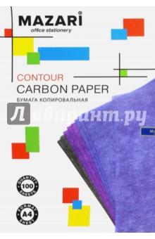 Бумага копировальная (100 листов, фиолетовая) (М-5691)Бумага копировальная и калька<br>Бумага копировальная для рукописных работ и печатных машинок.<br>Размер: 21х33 мм.<br>Состав: бумага.<br>Сделано в КНР.<br>