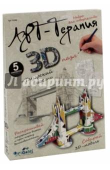 3D-пазл для раскрашивания Тауэрский мост (03086)Объемные пазлы<br>Пазл 3Д для раскрашивания в стиле Арт-терапия Тауэрский мост. В наборе: детали для сборки модели, 5 маркеров., . Упаковка - картонный конверт с еврододвесом.<br>Изготовлено из картона, полимерных материалов.<br>Изготовлено в Китае.<br>