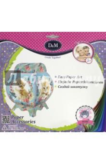 Набор для создания шкатулки3D модели из бумаги<br>Игрушка - игровой набор для развития детского творчества.<br>Набор для создания шкатулки из открыток с маркировкой Д&amp;amp;М.<br>Изготовлено из картона, пластмассы, текстильных материалов.<br>Рекомендуется детям старше 5 лет.<br>Комплектность: картонные заготовки, нитки, безопасная пластмассовая иголка, инструкция.<br>Сделано в Китае.<br>