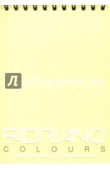 Блокнот 100 листов, А5, Writing Colors, банан (41482101)Альбомы/папки для профессионального рисования<br>Альбом для графики Fabriano Writing Colors.<br>Размер: 14,8х21 см.<br>Крепление: двойная спираль.<br>Количестово листов: 100.  <br>Цвет бумаги: банан.<br>Плотность: 80 г/м.<br>Сделано в Италии.<br>