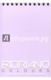 Блокнот 100 листов, А5, Writing Colors, лаванда  (41482100)Альбомы/папки для профессионального рисования<br>Альбом для графики Fabriano Writing Colors.<br>Размер: 14,8х21 см.<br>Крепление: двойная спираль.<br>Количестово листов: 100.  <br>Цвет бумаги: лаванда.<br>Плотность: 80 г/м.<br>Сделано в Италии.<br>