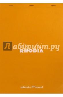 Блокнот 80 листов, А4, в точку (19558С)Альбомы/папки для профессионального рисования<br>Блокнот в точку.<br>Крепление: на скобах. <br>Обложка: картон.<br>Цвет обложки: оранжевый.<br>Цвет бумаги: белый., 80г/м2, <br>Количество листов: 80. <br>Микроперфорация.<br>Формат: 21х31,8 см..<br>Производитель: Италия.<br>