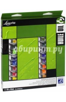 Краски масляные, 24 цвета, 10 мл, LOUVRE (LF806915)Краски художественные<br>Набор масляных красок.<br>Количество цветов: 24.<br>Упаковка: картонная коробка.<br>Производитель: Франции.<br>
