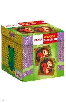 Игра настольная Мемори. Детеныши животных (58051)Карточные игры для детей<br>Игра-мемори для развития зрительной памяти.<br>В наборе - 20 пар карточек.<br>Правила игры<br>Количество игроков:<br>от 2 до 4 Возраст<br>от 3 лет<br>Мемори<br>Перемешайте все 40 карт и разложите их на столе лицевой стороной вверх. В течение 30 секунд игроки запоминают расположение карт, а затем переворачивают их рубашкой вверх. Первым ходит младший игрок; игра продолжается по часовой стрелке. Игроки по очереди открывают две карты. Если они составляют пару, игрок забирает их себе и делает еще один ход. В противном случае, карты нужно вернуть в исходное положение, а ход переходит к следующему игроку. Побеждает игрок, собравший больше всего пар. Можно постепенно увеличивать количество<br>используемых в игре карт. Игра способствует развитию зрительной памяти.<br>Что пропало?<br>Оставьте на столе по одной карте каждой породы собак и попросите ребенка запомнить их. Затем уберите одну или несколько карт. Ребенок должен угадать, карты с какими собаками спрятали.<br>Игра развивает зрительную память, внимательность и наблюдательность.<br>Найди карточку по описанию<br>Познакомившись с породами собак, можно поиграть в следующую игру. Задумайте карточку и опишите изображенную на ней породу собаки (например, внешний вид, особенности характера). Затем попросите второго игрока найти задуманную карту. Поменяйтесь ролями.<br>Игра развивает логическое мышление, наблюдательность, расширяет кругозор.<br>Состав набора:<br>20 пар карточек из толстого прочного картона, инструкция на упаковке.<br>Продукт разработан в Италии, в Центре Исследований и Разработки Lisciani.<br>Возраст: от 3 лет.<br>
