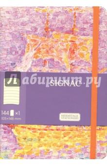 Блокнот, 105х148, 144 листа, линейка СиньякБлокноты средние Линейка<br>Блокнот.<br>Количество листов: 144.<br>Разлиновка: линия.<br>Крепление: книжное.<br>Бумага: офсетная.<br>Специальное оформление: скругленные углы, застежка-резинка, закладка и кармашек сзади.<br>Сделано в России.<br>
