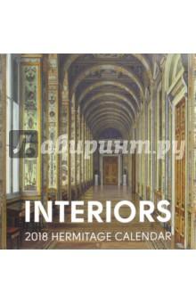 Календарь на  2018 год  Interiors, 300х300Настенные календари<br>Календарь на 2018 год.<br>Количество листов: 12.<br>Бумага: мелованная.<br>Крепление: скрепка.<br>Отпечатано в России.<br>