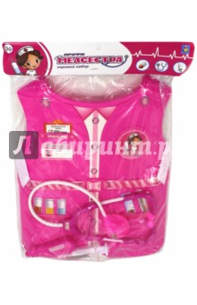 Набор костюм с жилетом Медсестра (Т10485)Играем в профессии<br>Игровой набор Медсестра.<br>3 предмета.<br>Материал: пластмасса.<br>Для детей старше 3-х лет.<br>Сделано в Китае.<br>