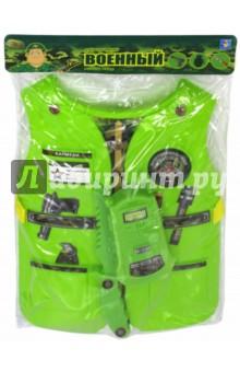 Набор костюм с жилетом Военный (Т10489)Играем в профессии<br>Игровой набор Военный.<br>3 предмета.<br>Материал: пластмасса.<br>Для детей старше 3-х лет.<br>Сделано в Китае.<br>