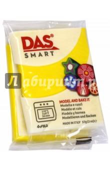 Полимерная паста, 57 грамм DAS SMART желтый (321004)Лепим из пасты<br>DAS SMART.  Полимерная паста для моделирования, 57 грамм, желтый теплый.<br>Для детей от 3 лет.<br>Сделано в Италии.<br>