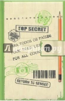 Блокнот Top secret, А6Блокноты средние Точка<br>Блокноты серии прекрасно подойдут для записи творческих идей, учебных заметок или любых других памяток, а также девчачьих секретиков и ваших важных мыслей, а удобный карманный формат позволяет их брать куда угодно. Блокноты изготовлены из офсетной бумаги в точку и имеют прочный переплет с мягкой подложкой из поролона. Они станут отличным приобретением или подарком для всех, кто привык на ходу фиксировать информацию, писать и рисовать.<br>80 листов.<br>