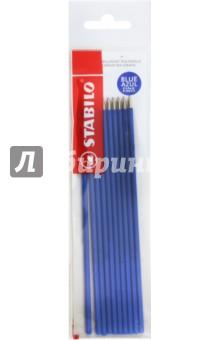 Стержни шариковые Liner 808 синие (10шт) (170215)Стержни к шариковым ручкам синие<br>Стержни шариковые STABILO, НАБОР 10 штук, 135мм, для ручек 141567, 0,3мм, европодвес, синие<br>