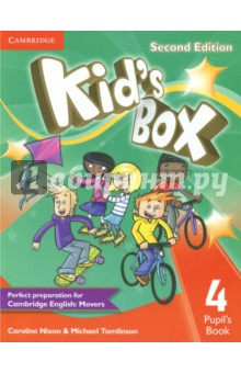 Kids Box Level 4 Pupils BookИзучение иностранного языка<br>Second edition of this popular course for young learners - now seven levels including Starter. Perfect preparation for Cambridge English Young Learners: Movers. Well-loved by children and teachers the world over, Kid s Box is bursting with bright ideas to inspire you and your pupils. Perfect for general use, the course also fully covers the syllabus of the Cambridge Young Learners English (YLE) tests, preparing your students for success at Starters, Movers and Flyers. The Pupil s Book presents and practises new language through entertaining stories and fantastic songs and activities, making the learning process a joy. YLE-type tests in Levels 2, 4 and 6 assess progress, and familiarise children with the exam format.<br>