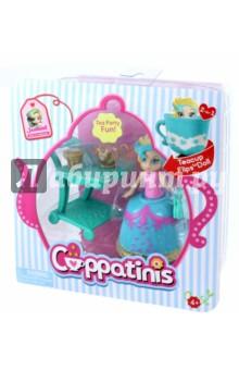 Кукла Cuppatinis (Т10610)Куклы<br>Cuppatinis -  это линейка маленьких кукол «2 в 1-ом», трансформирующихся из чашечек для чая в куколок. Это превращает классическое чаепитие в увлекательную игру с куколками. Возрастная группа: девочки от 3-х до 7-ми лет. Всего 6 персонажей. Размер самой куколки – 10 см.  Юбка куколки выполнена из эластичного материала, который легко выворачивается.<br>Кукла с аксессуарами (4 предмета).<br>Полимерные материалы.<br>Не предназначено детям младше 4 лет.<br>Сделано в Китае.<br>