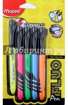 Текстовыделители Fluo Peps Pen (5 цветов) (734027)Наборы текстовыделителей<br>Текстовыделители Fluo Pep s Pen.<br>В наборе 5 цветов.<br>Колпачки с клипсами. Идеально подходят для ношения в пенале.<br>Яркие цвета.<br>Сделано в Малайзии.<br>