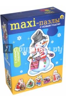 MAXI-пазлы С Новым годом! (ПМ-7626)Наборы пазлов<br>Макси-пазлы - отличная развивающая игра для самых маленьких. С её помощью у ребёнка будут развиваться наблюдательность, ассоциативное мышление, мелкая моторика рук. Вы с малышом с удовольствием проведёте время, собирая забавные красочные фигурки, которые состоят из 2-3 частей. <br>Состав набора: 6 картинок по 2-3 детали<br>Материал: картон<br>Для детей от 3-х лет.<br>Произведено в России.<br>