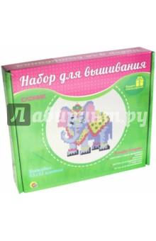 Слоник (НШ-7794)Вышивка<br>Вышивка 43х43 клетки. Набор для детского творчества.<br>В набор вышивания входят:<br>- цветная схема вышивки,<br>- канва,<br>- пяльцы,<br>- нитки для вышивания (7 цветов),<br>- игла для вышивания.<br>Материал: ткань, металл, пластик, бумага.<br>Произведено в Китае.<br>