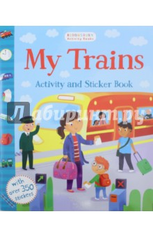 My Trains. Activity and Sticker BookЛитература на иностранном языке для детей<br>All aboard! Hop on board your first train with this fantastic activity book, bursting with different activities to complete and colourful stickers that you can collect. <br>Pack a lunchbox for the journey, work your way through the town maze to reach the train station, spot the matching trains in the station and much more! <br>Bloomsbury Activity Books provide hours of colouring, doodling, stickering and activity fun for boys and girls alike. Every book is filled with bright illustrations which children and parents will find very hard to resist. This book is perfect for providing entertainment for children at home and on the move!<br>