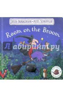 Room on the BroomЛитература на иностранном языке для детей<br>Join the witch and her animal friends for a broomstick adventure in this classic board book format with a fresh cover design!<br>How the cat purred and how the witch grinned,<br>As they sat on their broomstick and flew through the wind.<br>The witch and her cat fly happily over forests, rivers and mountains on their broomstick until a stormy wind blows away the witch s hat, bow and wand. Luckily, they are retrieved by a dog, a bird and a frog, who are all keen for a ride on the broom. It s a case of the more, the merrier, but the broomstick isn t used to such a heavy load and it s not long before... SNAP! It breaks in two! And with a greedy dragon looking for a snack, the witch s animal pals better think fast!<br>A very funny story of quick wits and friendship, The Room on the Broom is another smash hit from the unparalleled picture-book partnership of Julia Donaldson and Axel Scheffler, creators of The Gruffalo.<br>This handy board book format is perfect for younger readers. It features the classic story with a stunning redesigned cover and beautiful finish, making it a must-have for even the smallest Donaldson and Scheffler fans!<br>