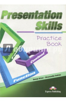 Presentation Skills. Practice Book. Function. Form. ContentАнглийский язык<br>Presentation Skills Practice Book offers a wide range of training tips and practice activities that provide learners with explicit guidelines on how to structure and convey their messages effectively, efficiently and creatively.<br>Presentation Skills are an integral part of 21st Century Skills, a fundamental requirement of skills for learners and professionals of all levels.<br>I The Presentation Skills Practice Book is divided into three sections. They focus on:<br>- FUNCTION - basic computer skills, essential software commands, tricks and tips useful with particular software. <br>- FORM - the nature of a presentation, the intended audience, the topic and the occasion, layout and templates, colours and fonts. <br>- CONTENT - quantity and quality of information, efficient selection, data structure and order, verbal and visual prompts.<br>Each section consists of 7 units. Each unit has a theoretical and a practice component. The tips and activities engage learners in developing their own unique set of presentation skills. The level of English used in the Presentation Skills Practice Book corresponds to CEFR B1.<br>