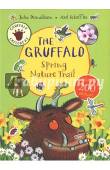 Gruffalo Explorers. The Gruffalo Spring Nature TrailЛитература на иностранном языке для детей<br>Calling all nature explorers to go outside with the Gruffalo! Don t forget to take Gruffalo Explorers: The Gruffalo Spring Nature Trail with you and keep your eyes peeled. Learn all about nature with this colourful spotters  guide, packed with fun, spring-themed outdoor activities and hundreds of stickers - a brilliant book for all the family. This handily sized activity book is suitable for even the youngest nature lovers and fans of Julia Donaldson and Axel Scheffler s much-loved character, and is full of great activities that are based around seeing and engaging with nature and the outside world. This fun springtime sticker activity book is about stopping, seeing, listening and collecting in a way that s accessible and fun, with activities that link into the Early Years Foundation Stage (EYFS) of the curriculum.<br>