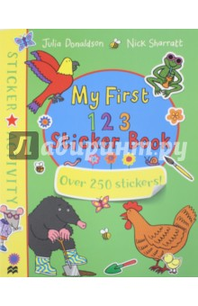 My First 123 Sticker BookЛитература на иностранном языке для детей<br>Learn to count from one to ten with a whole host of animals from Julia Donaldson and Nick Sharratt s brilliant books. With loads of animals getting up to all kinds of fun, this is a counting sticker book like no other. Packed with games, activities and hundreds of extra-large stickers that are easy for small hands to use, this book is perfect for birthdays, rainy days and holidays - a great gift for any young child. 1, 2, 3 Sticker Book is a must-have activity book based on Julia Donaldson and Nick Sharratt s wonderful books for toddlers, including One Mole Digging a Hole, Goat Goes to Playgroup, Animal Music, Hippo Has a Hat and Chocolate Mousse for Greedy Goose. Also look for: Animal Fun Sticker Book by Julia Donaldson and Nick Sharratt.<br>