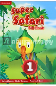 Super Safari 1 Big BookИзучение иностранного языка<br>Using the stories from the Pupil s Books, the Super Safari Big Books, are a wonderful way for the Teacher to further develop a sense of class community through a shared reading experience. The stories are reproduced in large format and come with a suggested script and teaching tips for the Teacher. They are an excellent way for very young learners to start developing a love of reading.<br>
