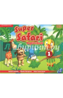 Super Safari 1. Pupils Book + DVD-RИзучение иностранного языка<br>oin Polly and her friends on an exciting adventure that welcomes pre-school children to English through colourful stories, action songs and fun arts and crafts. With children s development in mind, this exciting pre-school course introduces the new language through play while improving memory and concentration; practising motor-sensory skills and developing thinking and creativity. Together with Polly, children also discover the fascinating world around them, the link between English letters and sounds, and the importance of sharing and other values. Pupil s Book 1 includes a fabulous DVD-ROM with animated songs and interactive games - perfect for family fun at home.<br>
