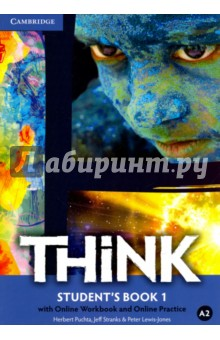Think British English 1. Students Book with Online Workbook and Online PracticeИзучение иностранного языка<br>Challenge and inspire your teenage learners to think beyond language. Think is a fresh, vibrant and upbeat course designed to engage teenage learners and make them think. As well as building students  language skills, it offers a holistic approach to learning: developing their thinking skills, encouraging them to reflect on values and building self-confidence. Topics are chosen to appeal to and challenge teenagers, firing their imagination and ensuring effective learning. This version of the Student s Book includes access to the online learning management platform with full Workbook content online plus further practice and interactive video activities. Teachers can use the platform to track students  progress and ensure more<br>